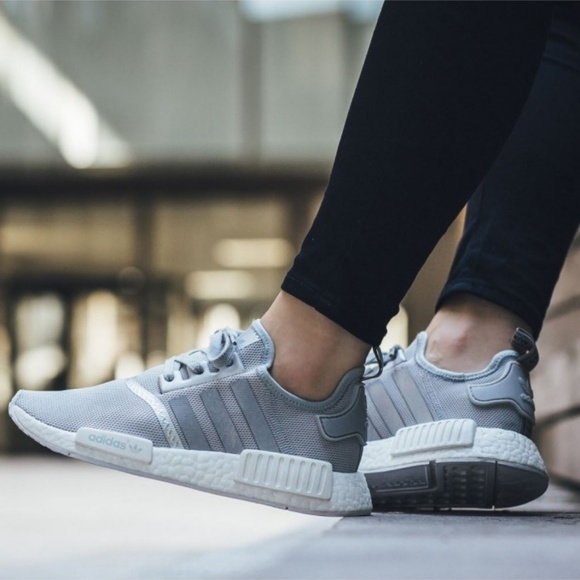 high quality release date: save off Adidas NMD R1 Sneakers Matte Silver NMDs